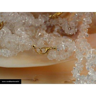 Catena di schegge di cristallo di rocca