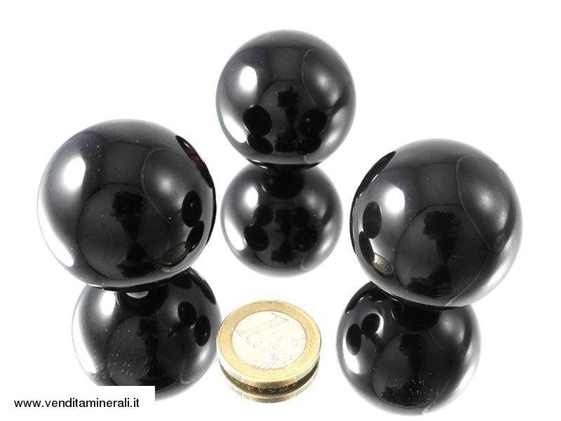 Sfera di ossidiana lamellare 4 cm