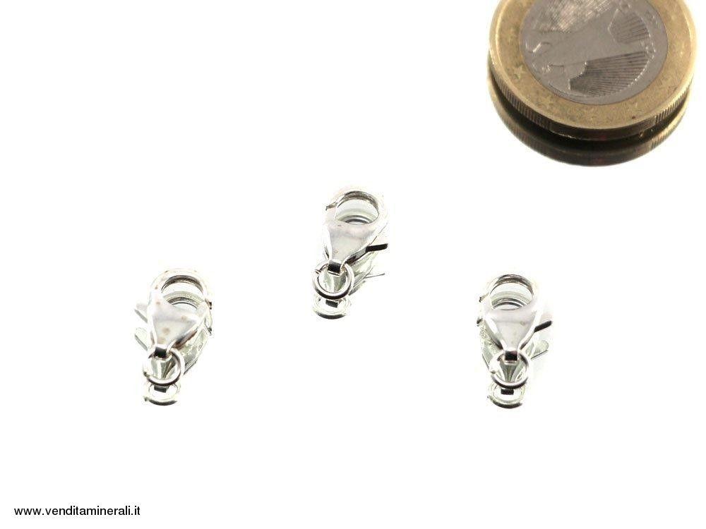 Chiusura a moschettone in argento 925