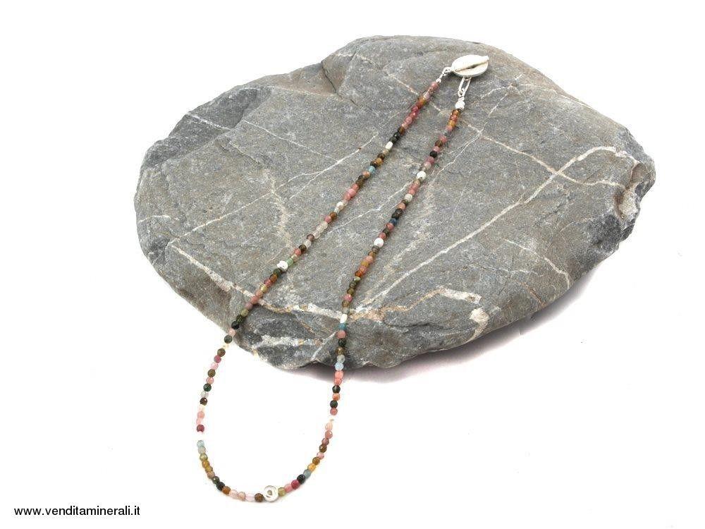 Collana di tormalina con perle d'acqua dolce