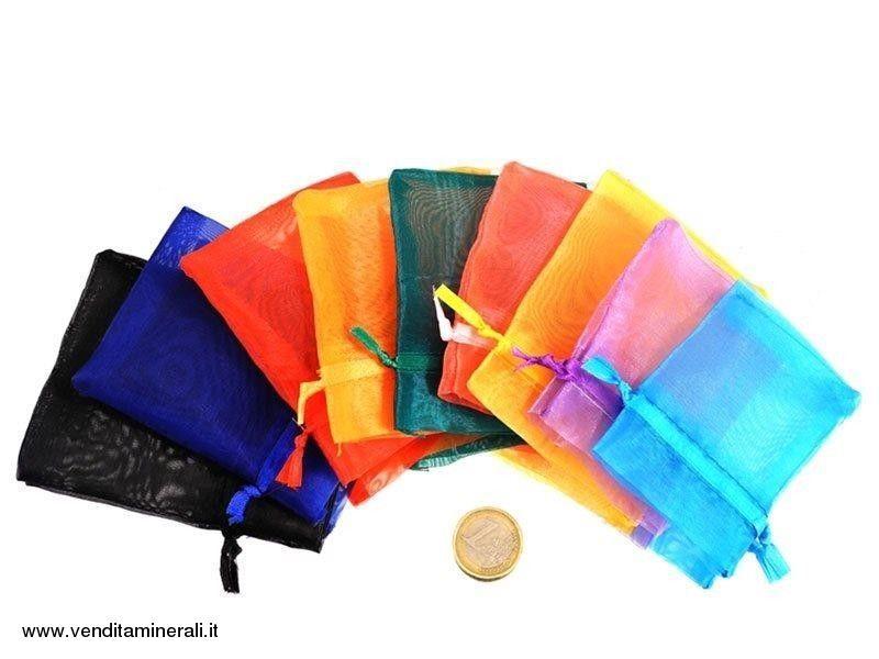 Borsetta in organza colorata - 12 pezzi