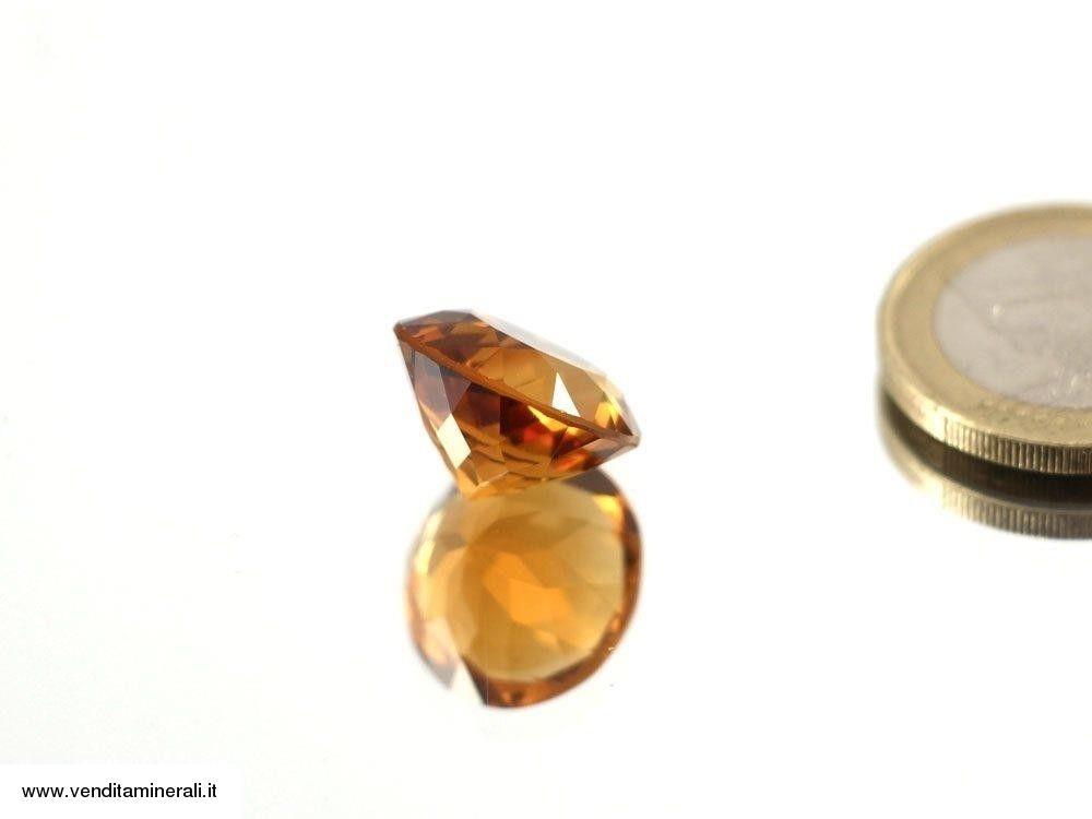 Citrino naturale sfaccettato - color cognac
