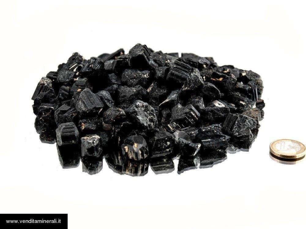 Tormalina nera - mini pietre ruvide (1-2 cm) - 1 kg