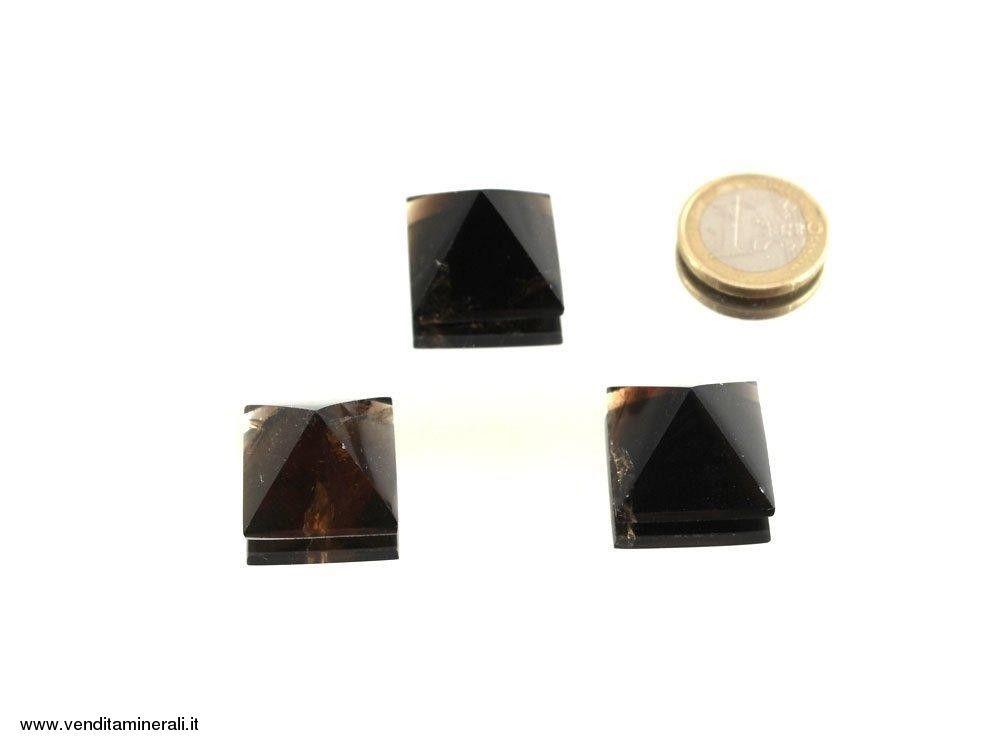 Mini Piramidi di Quarzo fumè