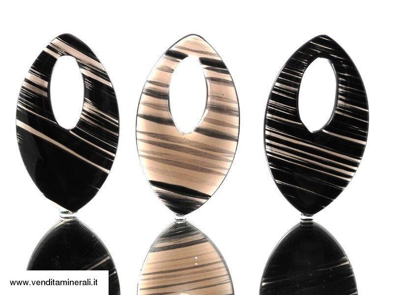 Ornamenti di ossidiana di lamella