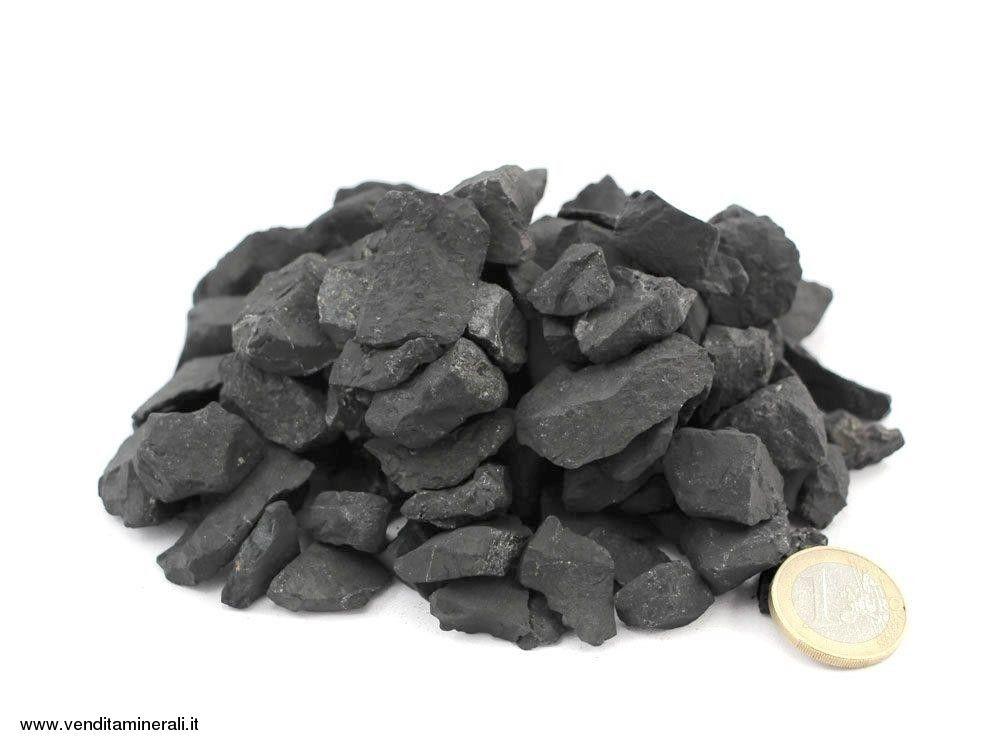 Scaglie di shungite - pietre ruvide 1 - 2 cm 1 kg