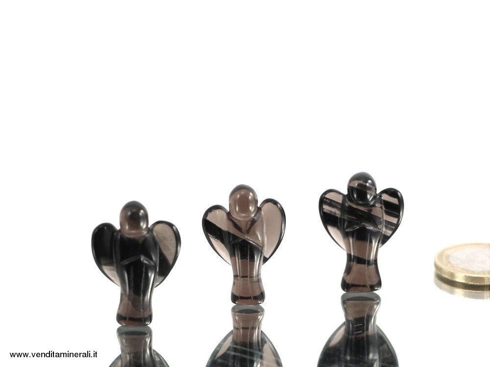 Angelo in lamelle d'Ossidiana - 1 pz