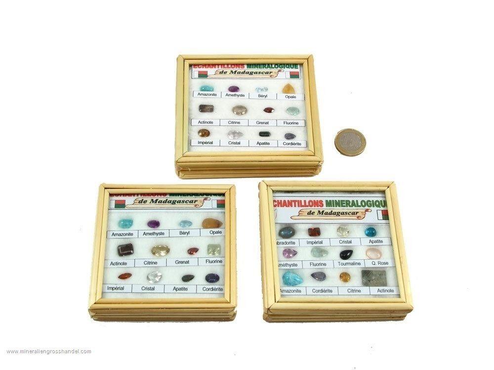 12 pezzi di collezione di pietre preziose