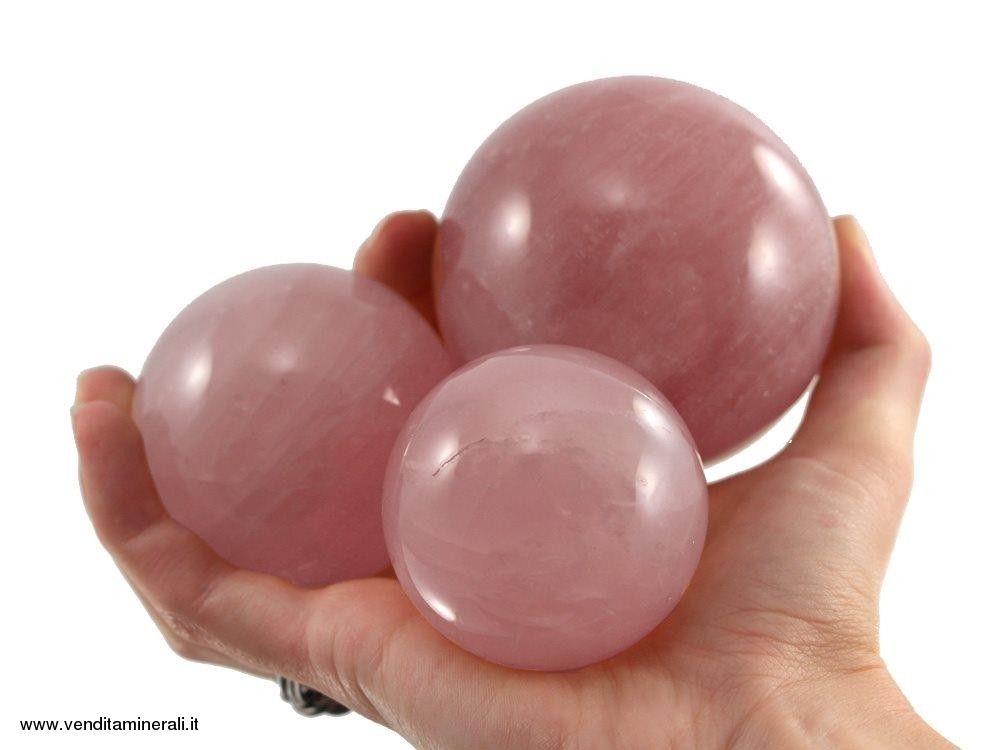 Palline di quarzo rosa - 1 kg