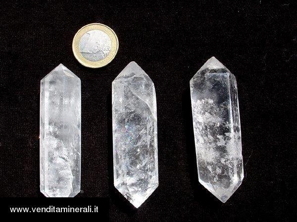 Doppio cristallo di rocca di circa 15,5 - 18 cm levigato