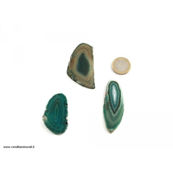 Agata sezionata verde piccola - 1 pezzo