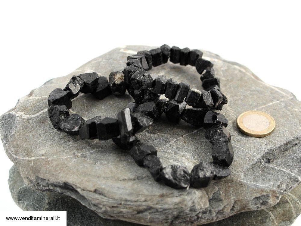 Bracciale in cristallo nero tormalina
