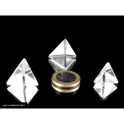 Cristallo di rocca, tetraedrico (corpi platonici).