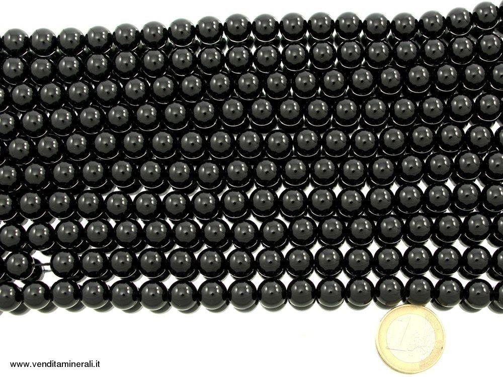 Filo sfera tormalina nera da 10 mm
