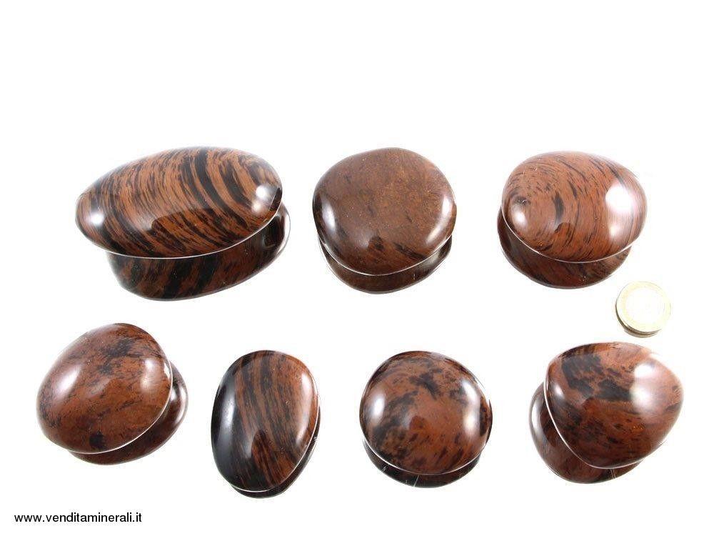 Ciottoli di ossidiana mogano - 0,5 kg
