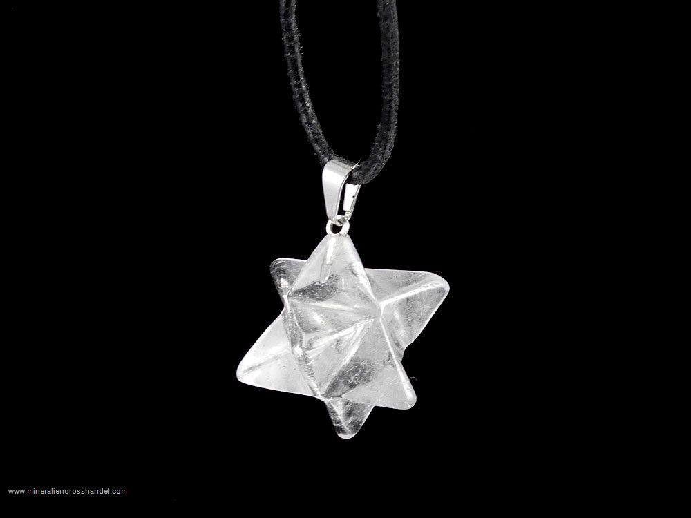 Ciondolo Merkaba in cristallo di rocca