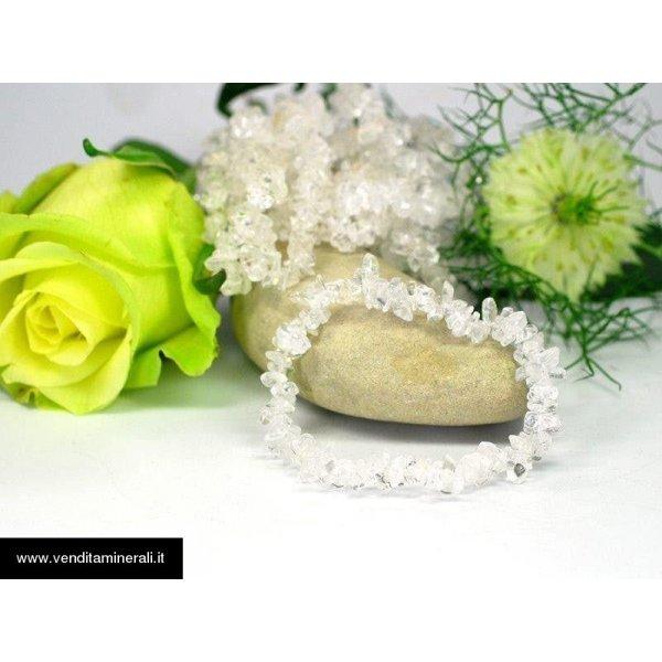 Bracciale scheggia di cristallo di rocca