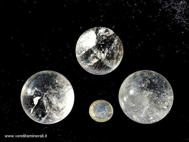 Sfere di cristallo di rocca A 0,5 kg