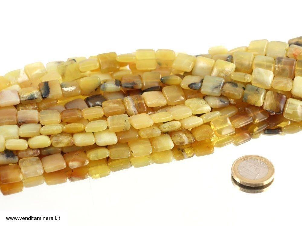 Filo di catena a forma di rettangolo in opale