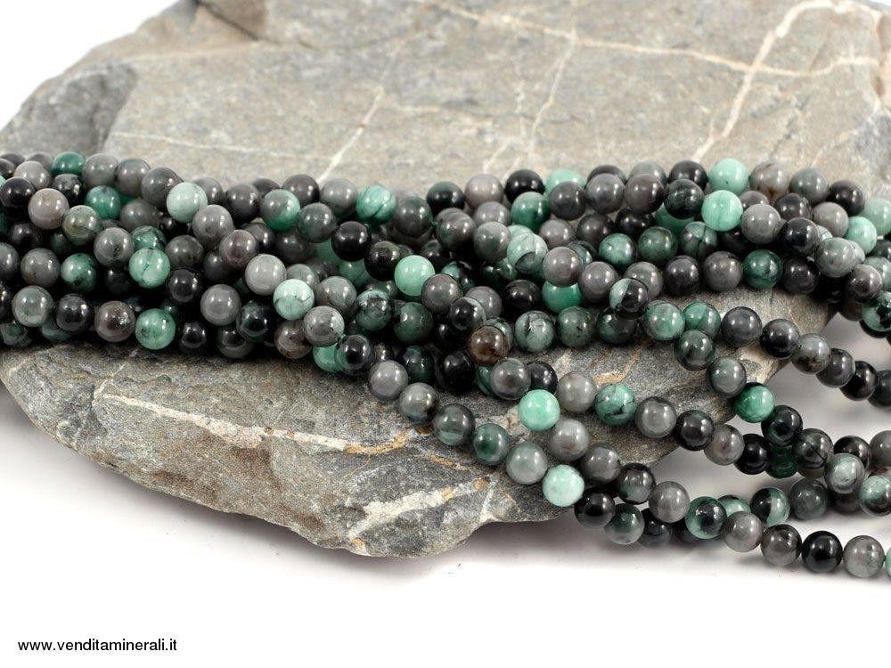 Filo catena di smeraldo da 8 mm