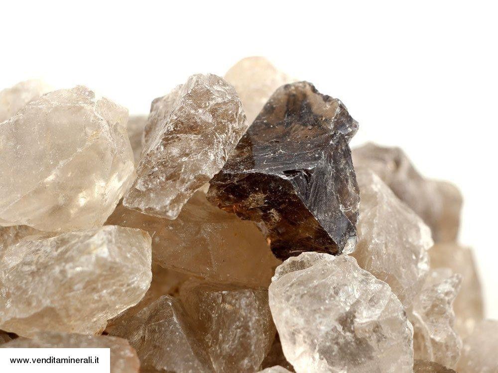 Quarzo fumé - piccole pietre grezze (2-5 cm) - 1 kg