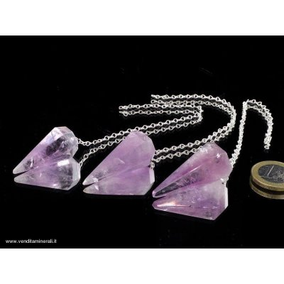 Ametista pendolo - argento