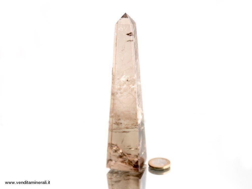 Obelisco di quarzo fumé