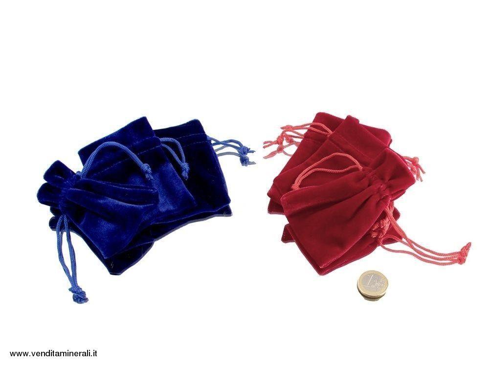 Borsa in velluto - 1 pezzo - rosso / blu
