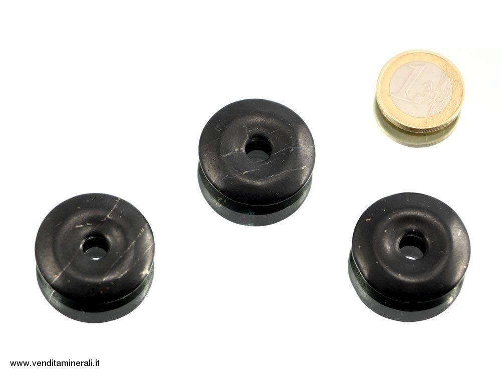 Shungite a forma di ciambelle - 30 mm