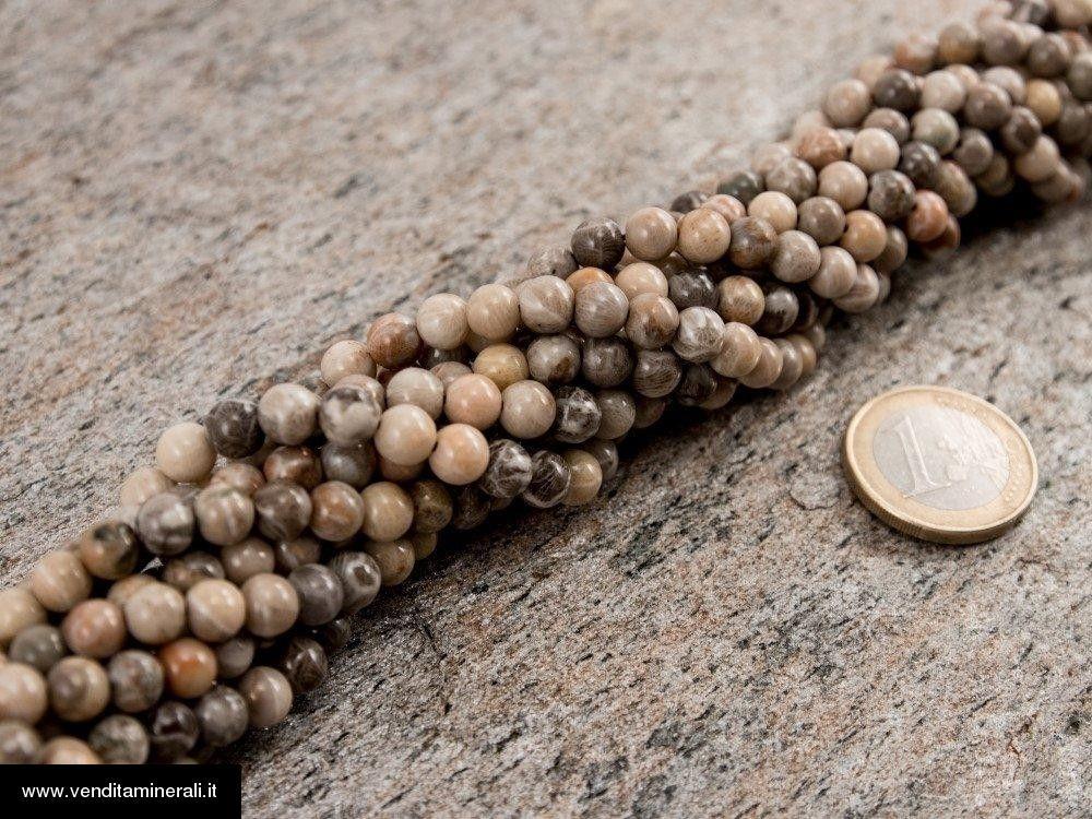 Filo di catena fossile di corallo 6 m