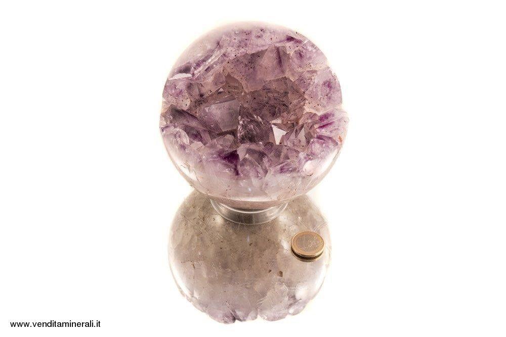 Palla di cristallo ametista