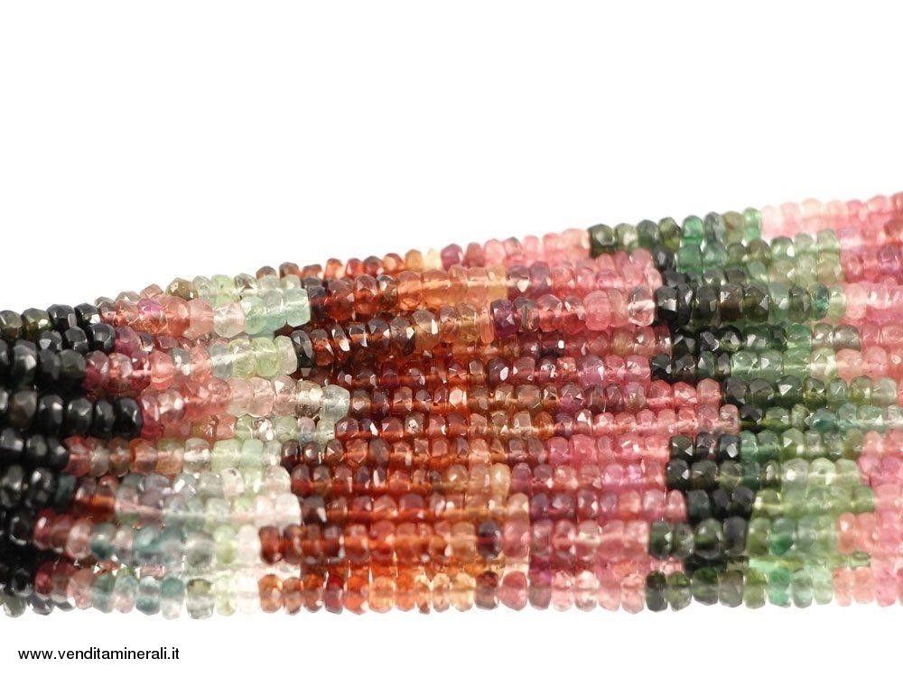 Tormalina multicolore sfaccettata