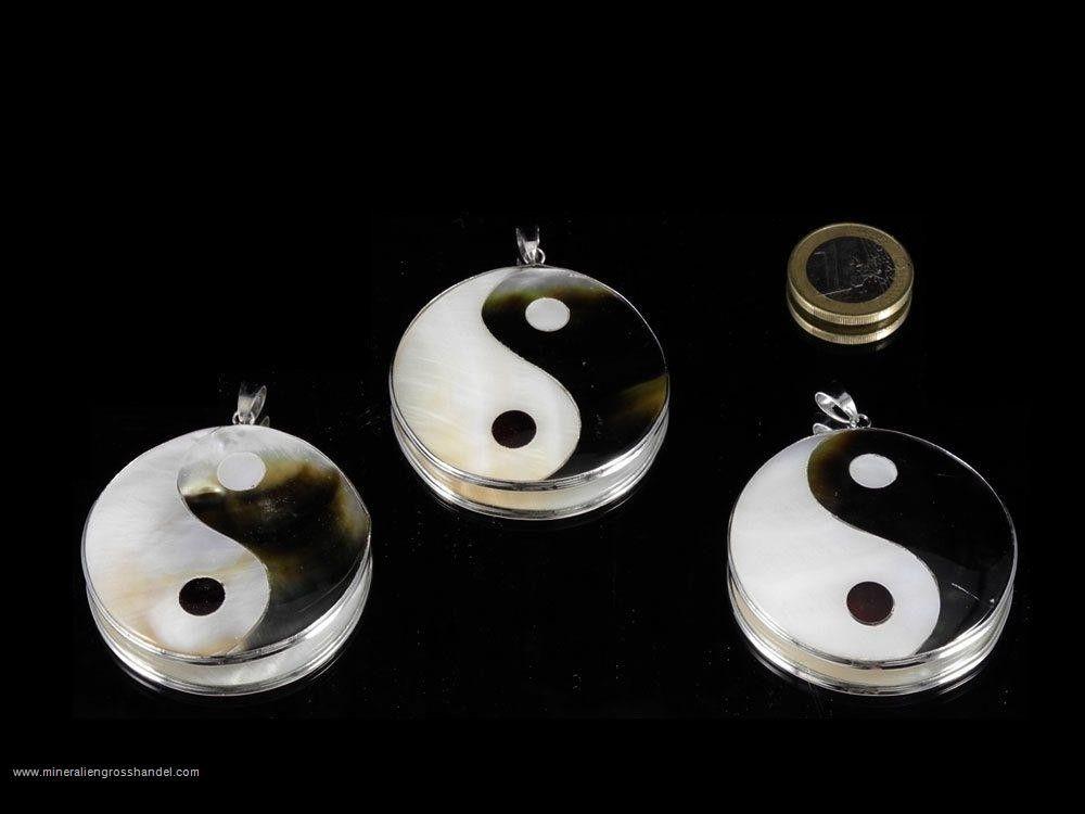 Yin Yang ciondolo in madreperla