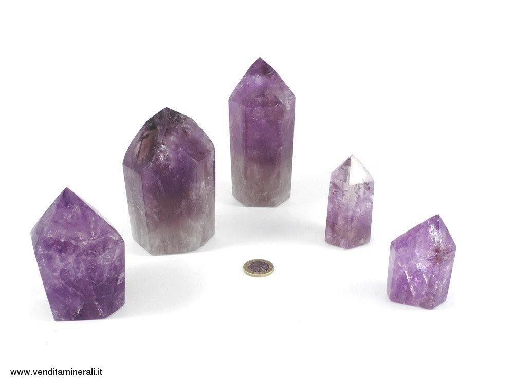 Ametista punte di cristallo lucidate - 0,5 kg