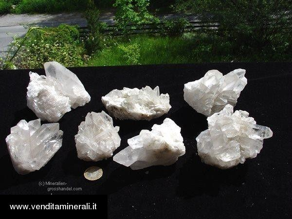 Agglomerato di cristallo di rocca qualità A - medio 1 kg