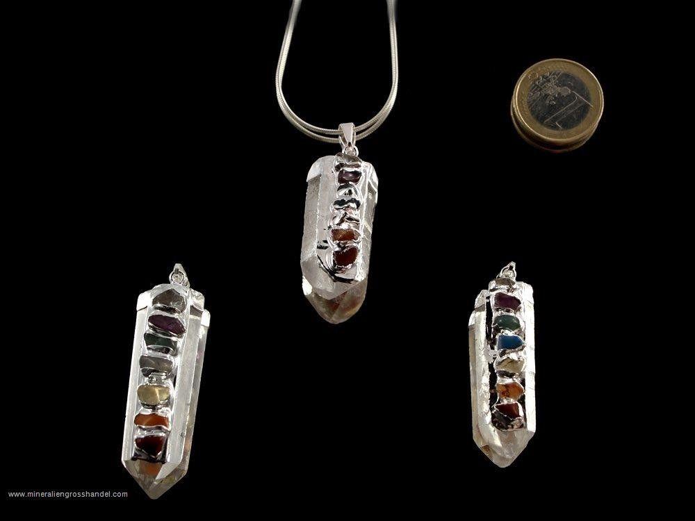 Ciondoli di punta di cristallo con cappuccio in argento galvanizzato