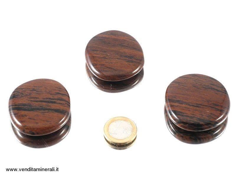 Pietra tascabile in ossido di mogano - 1 pezzo