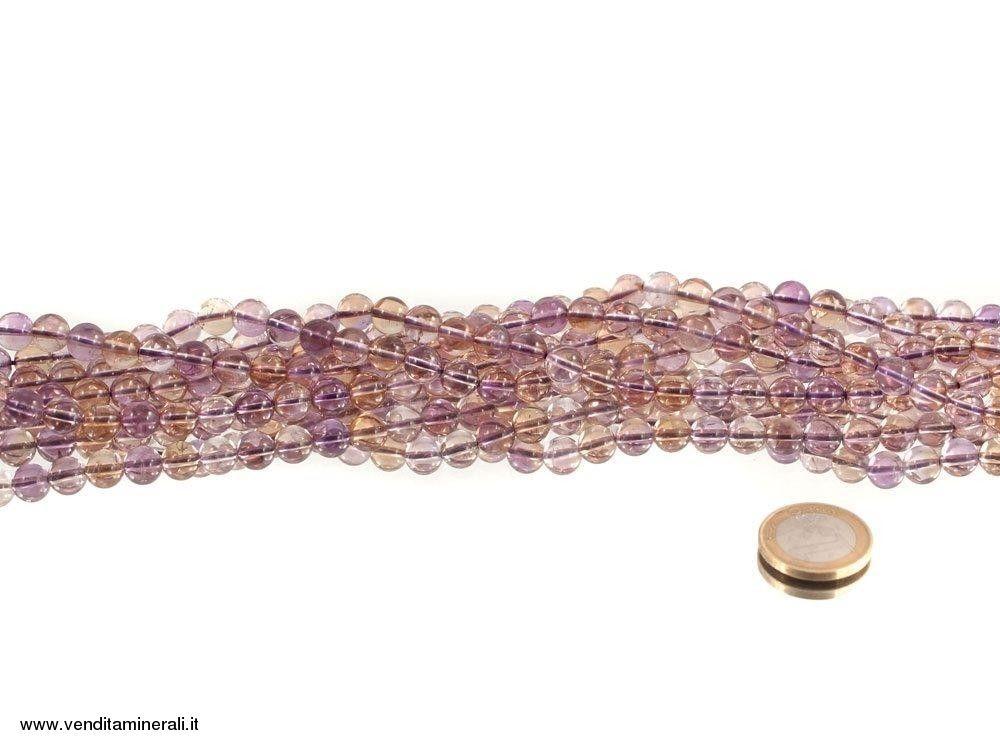 Filo della catena con sfere di Ametrine da 8 mm