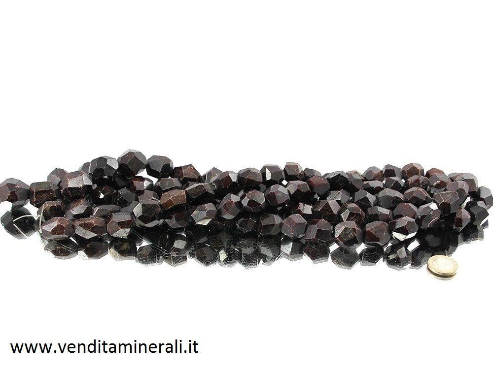 Collana di cristallo granato formato XL