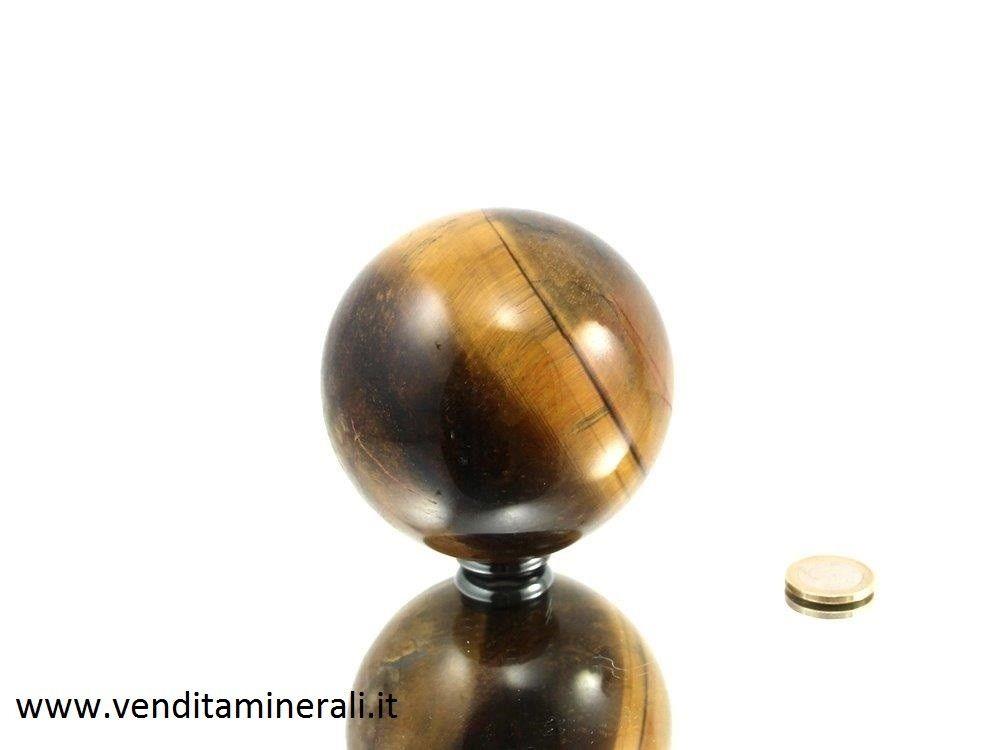 Palla a forma di occhio di tigre 6,5 cm di diametro