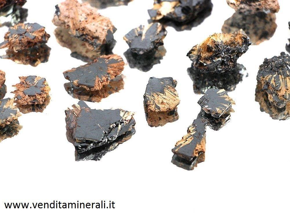Cristallo di rutilo con ematite - 50 pezzi