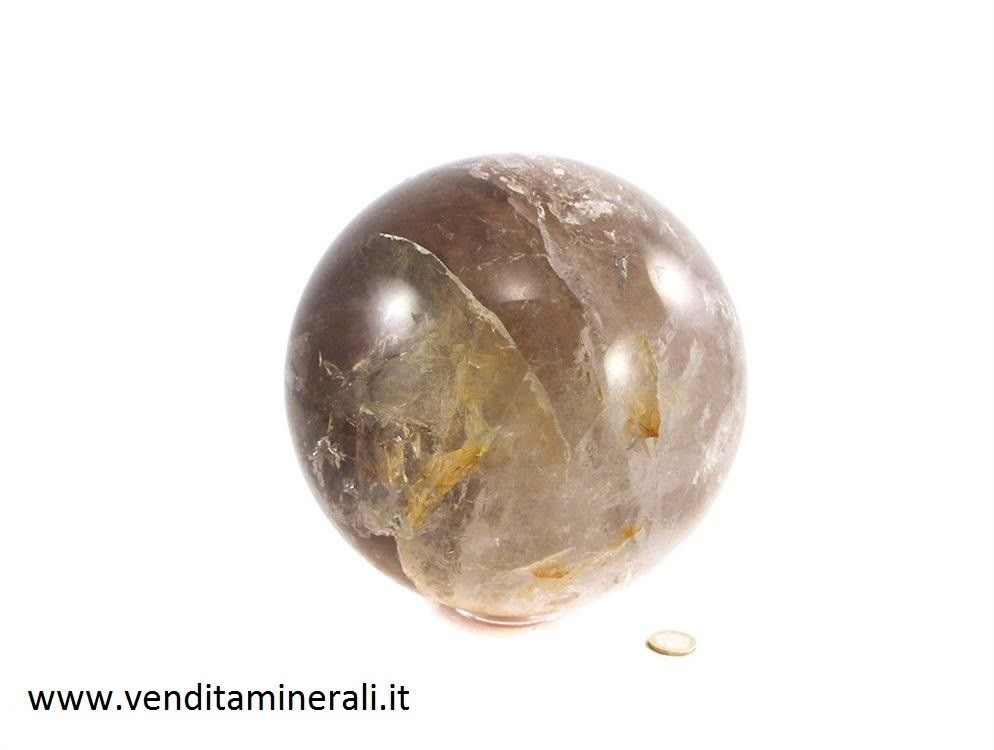 Grande sfera al quarzo fumé formato XL (qualità B)