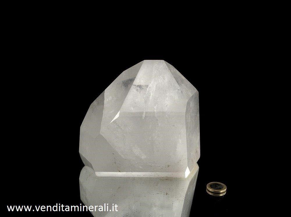 Cristallo di rocca massiccio e lucido