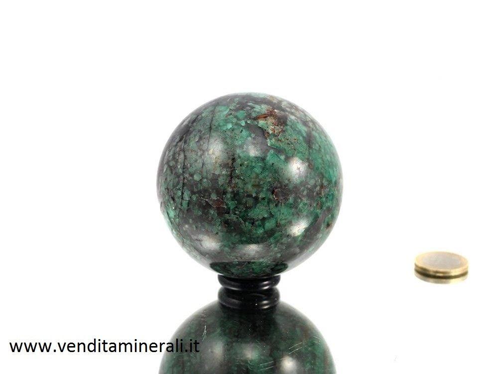 Sfera di smeraldo - 7,5 cm di diametro