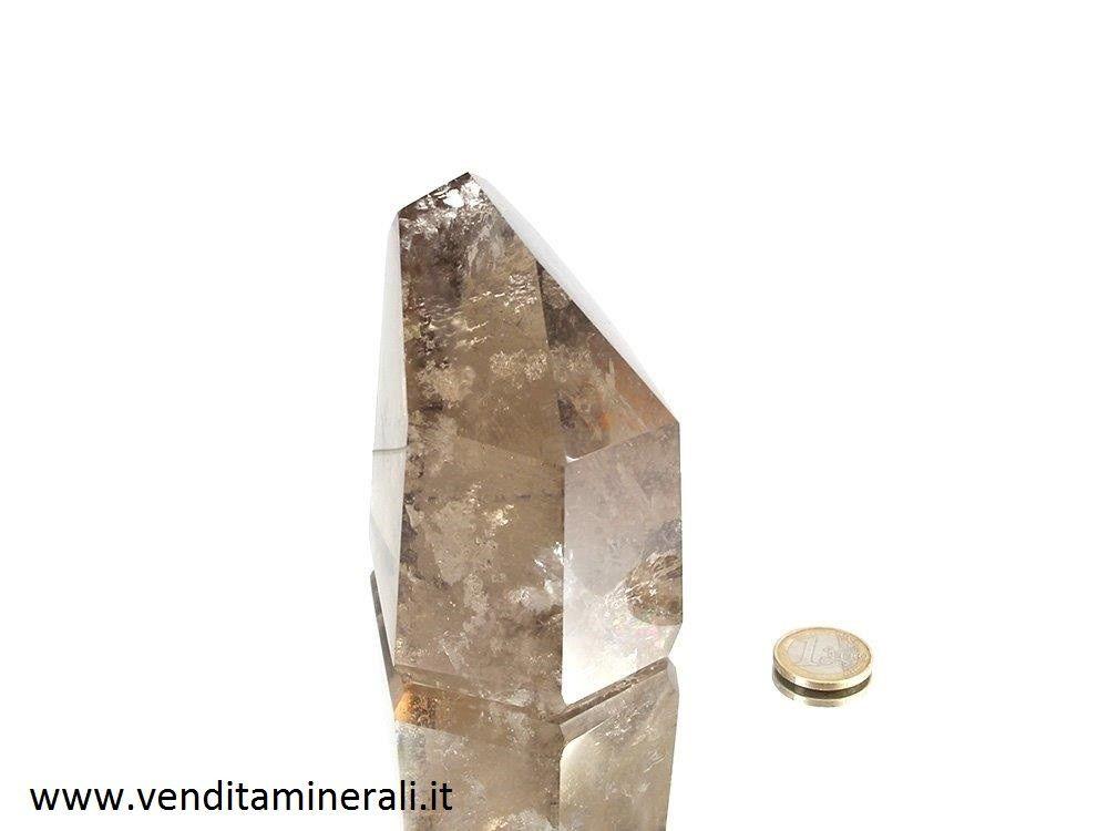 Quarzo fumoso - cristallo a misura di mano