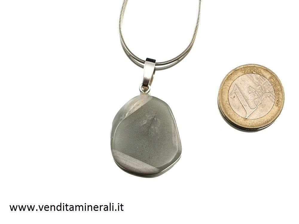 Quarzo con occhiello in argento 925