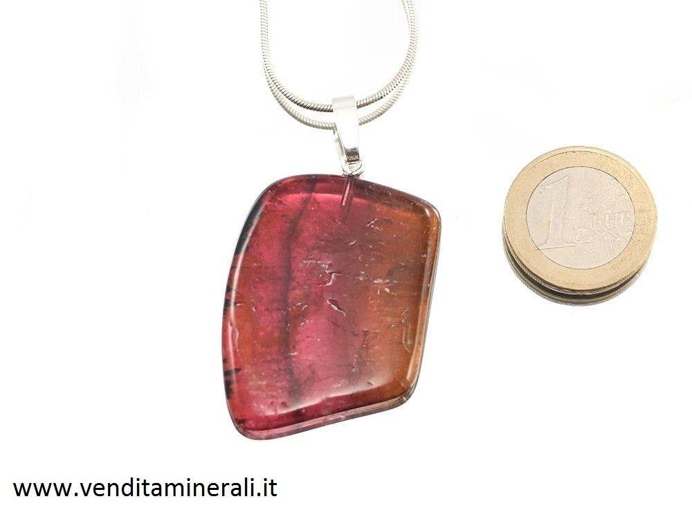 Tormalina multicolore - argento 925