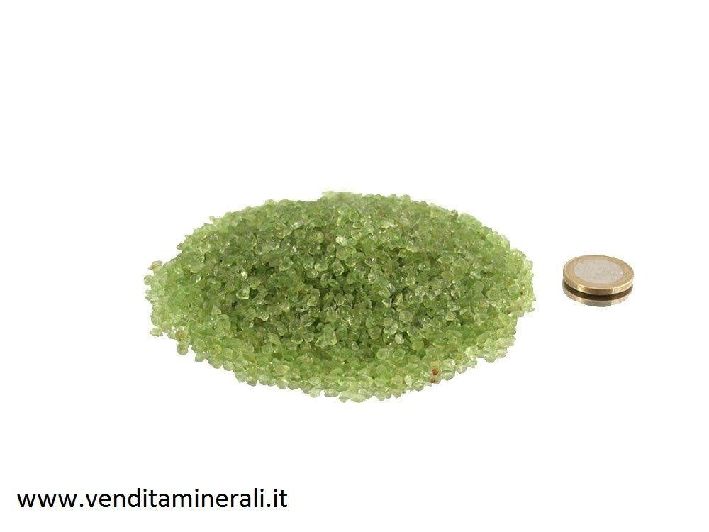 Pietre burattate color oliva - 0,25 kg