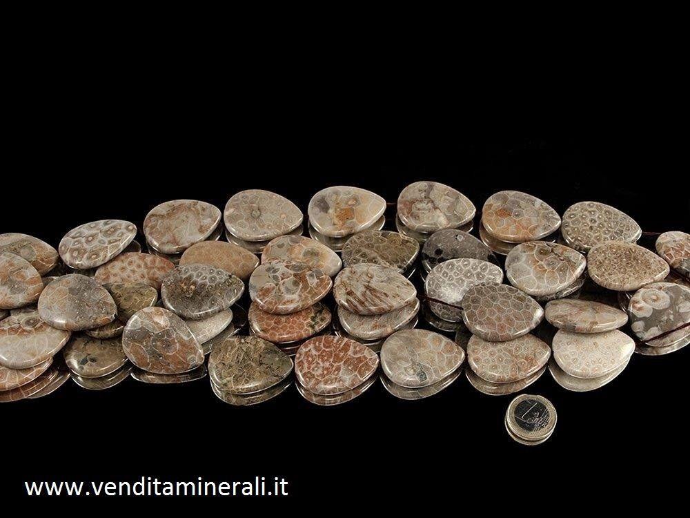 Collana di corallo fossile formato XL