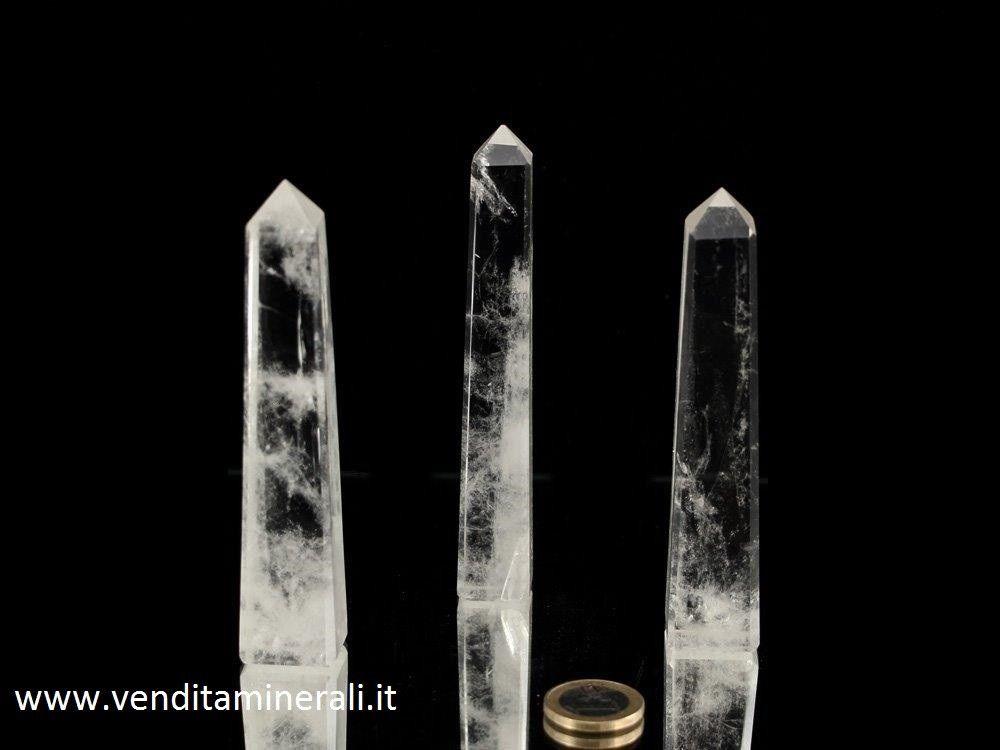 Obelisco di cristallo di rocca Extra - 0,25 kg